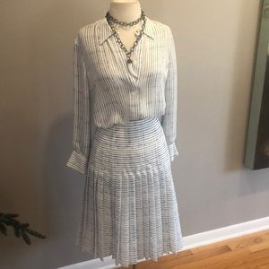 NWT VINCE SILK BLOUSE AND SKIRT
